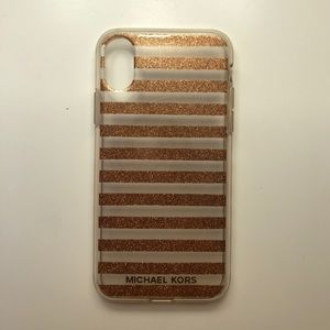 Michael Kors Striped Clear iPhone Case
